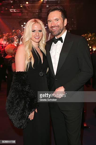 Sarah Knappik and Ingo Nommsen during the after show party of the Goldene Kamera 2016 on February 6 2016 in Hamburg Germany