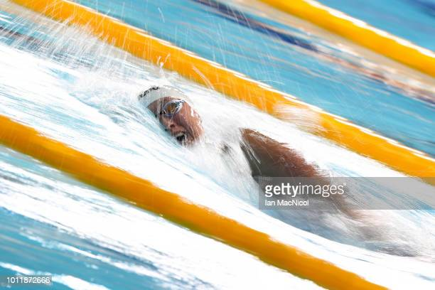 Sarah Koehler of Germany competes in the Women's 1500m Freestyle during the swimming on Day five of the European Championships Glasgow 2018 at...