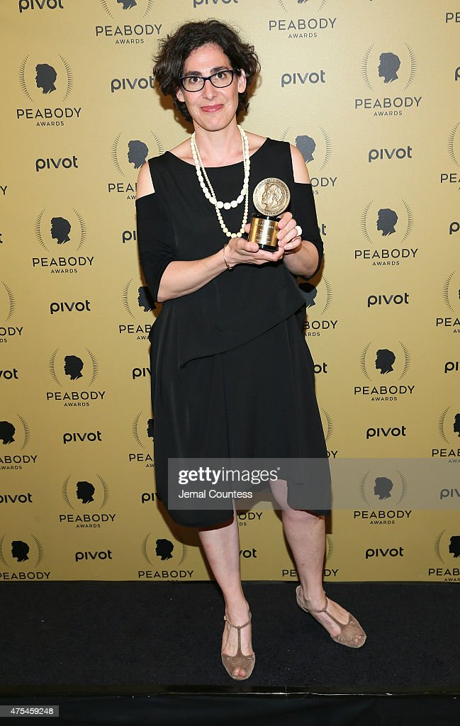 Sarah Koenig poses with her award at The 74th Annual Peabody Awards Ceremony at Cipriani Wall Street on May 31, 2015 in New York City.