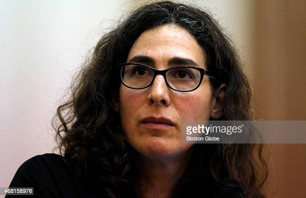 Sarah Koenig producer and host of the podcast Serial speaks at Boston University's 'Power of Narrative' conference in Boston Massachusetts March 29...