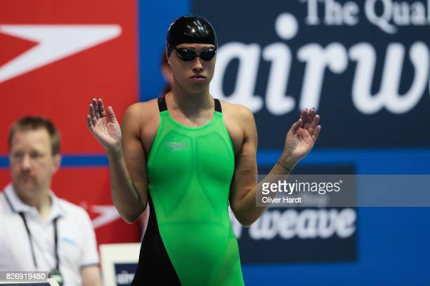 Sarah Kohler of Germany compete in the Women´s 200m freestyle race during day one of the FINA Airweave Swimming World Cup Berlin 2017 at Europa...