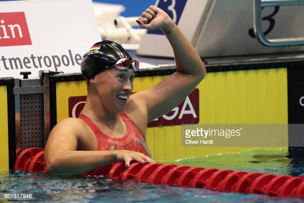 Sarah Kohler of Germany compete in the Women's 400m freestyle final race during day two of the FINA Airweave Swimming World Cup Berlin 2017 at Europa...