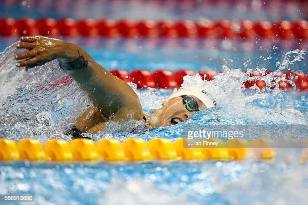 Sarah Kohler of Germany competes in the in the Women's 400m Freestyle heat on Day 2 of the Rio 2016 Olympic Games at the Olympic Aquatics Stadium on...
