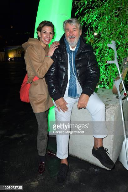 Sarah Kronsbein and her father Dirk Kronsbein attend the premiere of Totem by Cirque du Soleil at Theresienwiese on February 13 2020 in Munich Germany