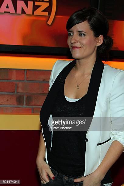 Sarah Kuttner ZDFTalkshow 'Markus Lanz' HamburgBahrenfeld Deutschland Europa Studio TalkShow Moderatorin Autorin Promi BB CD PNr 030/2014