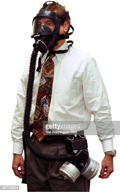 Sarah L Voisin DATE 10/9/2001 Invididual shots of 9 gas masks at Geomet Division Versar Corp in Germantown MD PICTURED The Geomet DTAPS first...