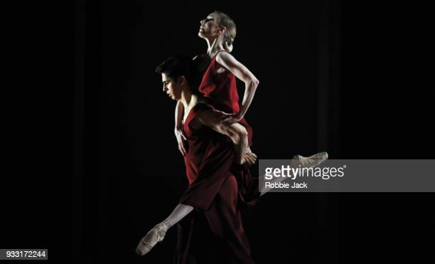Sarah Lamb and Federico Bonelli in the Royal Ballet's production of Wayne McGregor's Yugen at the Royal Opera House on March 15 2018 in London England