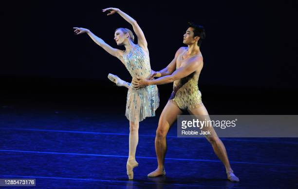 Sarah Lamb and Ryoichi Hirano in The Royal Ballet's production of Christopher Wheeldon's Within the Golden Hour at The Royal Opera House on November...