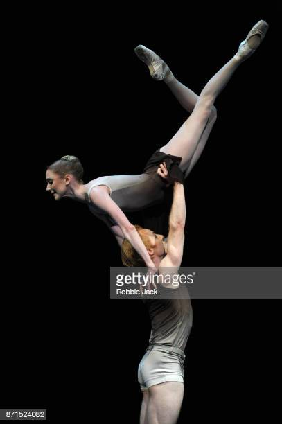 Sarah Lamb and Steven McRae in the Royal Ballet's production of Twyla Tharp's The Ilustrated Farewell at The Royal Opera House on November 3 2017 in...