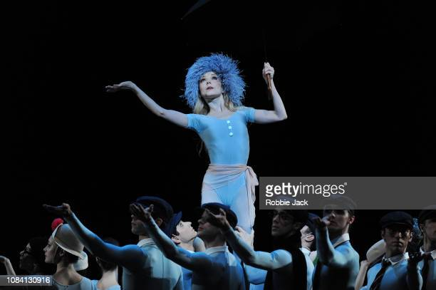 Sarah Lamb with artists of the company in Jerome Robbins'u2019s The Concert at The Royal Opera House on December 17 2018 in London England