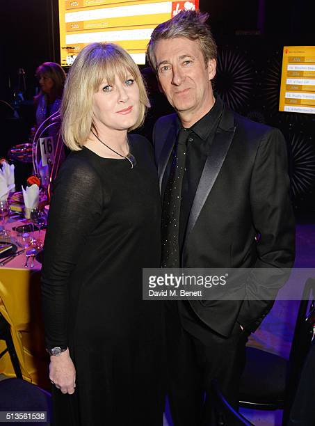 Sarah Lancashire and Peter Salmon attend 'A Night Of Motown' for Save The Children UK at The Roundhouse on March 3 2016 in London England