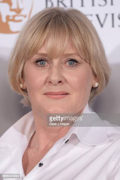 Sarah Lancashire poses in the Winner's room at the Virgin TV BAFTA Television Awards at The Royal Festival Hall on May 14 2017 in London England