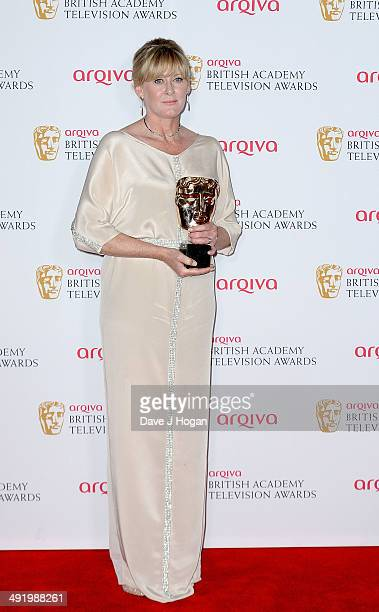 Sarah Lancashire winner of Supporting Actress for Last Tango In Halifax at the Arqiva British Academy Television Awards at Theatre Royal on May 18...