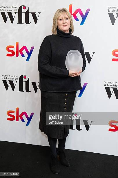 Sarah Lancashire winner of the Best Performance Award at the Sky Women In Film TV Awards at London Hilton on December 2 2016 in London England