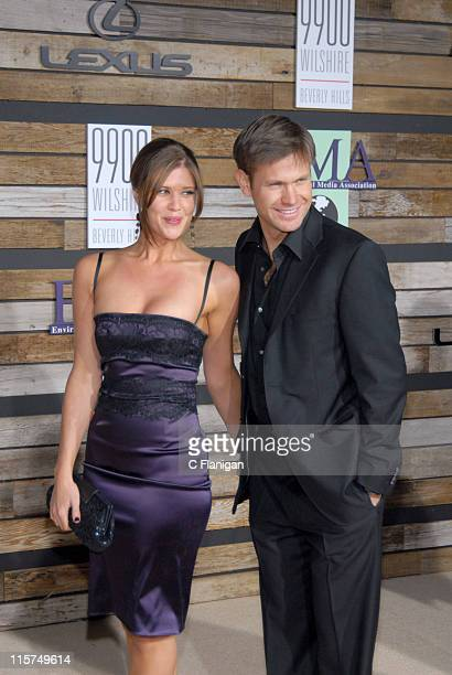 Sarah Lancaster and Matt Davis during EMA E Golden Green Party at 9900 Wilshire Blvd in Beverly Hills California United States