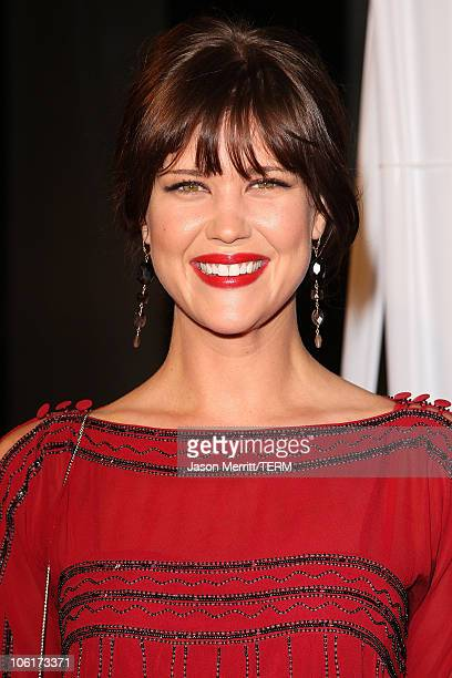 Sarah Lancaster arrives at 'Over Her Dead Body' Los Angeles premiere at the ArcLight Hollywood Theatre on January 29 2008 in Hollywood California