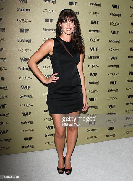 Sarah Lancaster arrives at the Entertainment Weekly and Women In Film preEMMY party held at The Sunset Marquis Hotel on August 27 2010 in West...