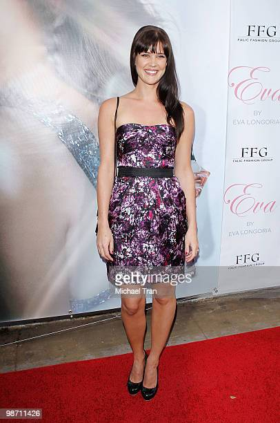 Sarah Lancaster arrives to the Eva Longoria Parker fragrance launch party for Eva held at Beso on April 27 2010 in Hollywood California