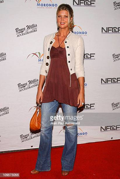 Sarah Lancaster during Bruce Willis and The Accelerators in Concert at Avalon Hollywood to Benefit the National Foster Care Fund Arrivals at Avalon...