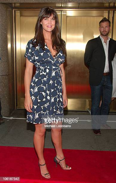 Sarah Lancaster during NBC 20072008 Primetime Preview Red Carpeti Upfronts Arrivals at Radio City Music Hall in New York City New York United States