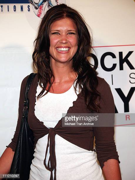 Sarah Lancaster during Rock This Way Tour Arrivals August 24 2005 at Avalon Nightclub in Hollywood California United States