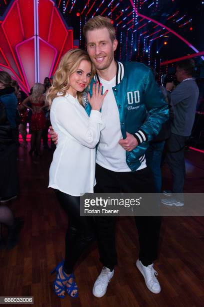 Sarah Latton and Maximilian Arland during the 4th show of the tenth season of the television competition 'Let's Dance' on April 7 2017 in Cologne...