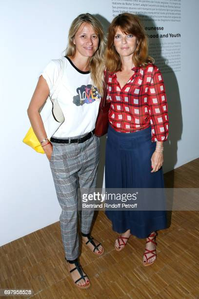 Sarah Lavoine and Geraldine Hamon attend the David Hockney 'Retrospective' Exhibition at Centre Pompidou on June 19 2017 in Paris France