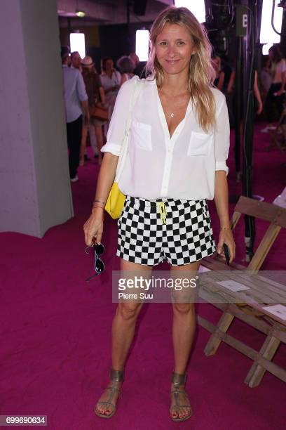 Sarah Lavoine attends the Ami show during the Paris Fashion Week Menswear Spring/Summer 2018 on June 22 2017 in Paris France