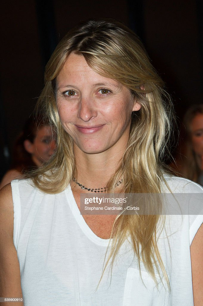 Sarah Lavoine attends the Zadig & Voltaire show at 'Palais de Tokyo', as part of the Paris Fashion Week Womenswear Spring/Summer 2014, in Paris.