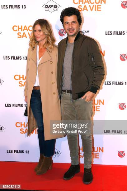 Sarah Lelouch and David Marouani attend the 'Chacun sa vie' Paris Premiere at Cinema UGC Normandie on March 13 2017 in Paris France