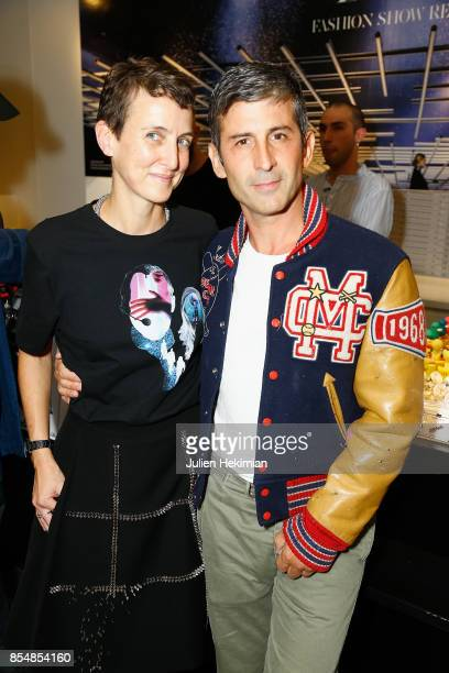 Sarah Lerfel Andelman and Andre Saraiva attend the Betak Cocktail at Colette as part of the Paris Fashion Week Womenswear Spring/Summer 2018 on...