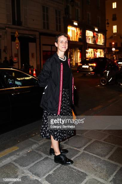 Sarah Lerfel Andelman Founder of Parisian store Colette is seen outside the Fendi cocktail #Fendimania on October 16 2018 in Paris France