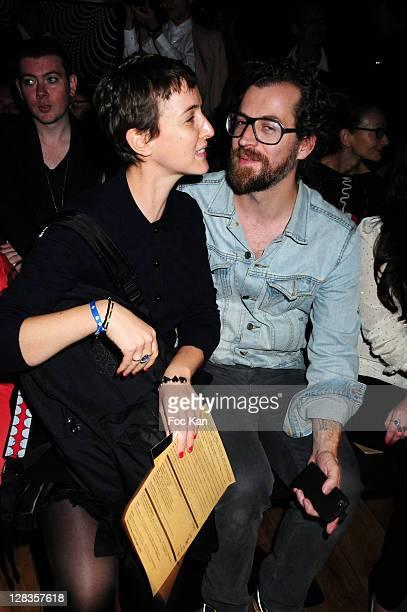 1327c70142 Sarah Lerfel from Colette and a guest attend the JeanCharles de Castelbajac  Front Row Paris Fashion