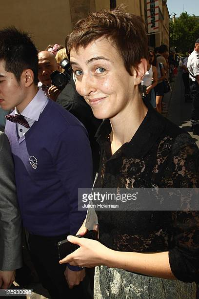 Sarah Lerfel of French concept store Colette arrives for the Christian Dior Haute Couture Fall/Winter 2011/2012 show as part of Paris Fashion Week on...