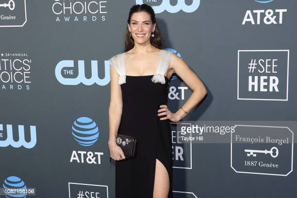 Sarah Levy attends The 24th Annual Critics' Choice Awards at Barker Hangar on January 13 2019 in Santa Monica California