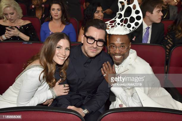 Sarah Levy Daniel Levy and Billy Porter attend the 2019 American Music Awards at Microsoft Theater on November 24 2019 in Los Angeles California