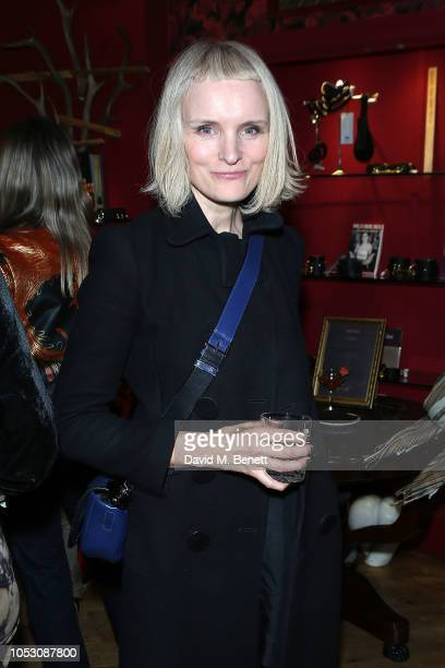 Sarah Lewis attends the launch of Wanda Orme X Coco De Mer's new latex imagery on October 24 2018 in London England