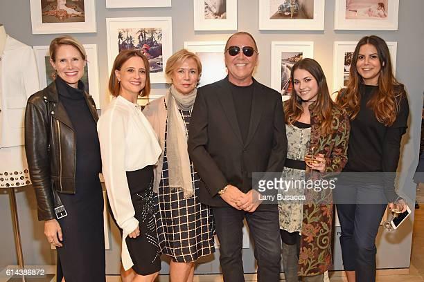 Sarah Lochting Monica Bloom Susan Smith Ellis designer Michael Kors Jenna Markovich and Alina Dolgolenko attend the celebration for Michael Kors'...