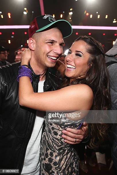 Sarah Lombardi and her husband Pietro Lombardi attend the 3rd show of the television competition 'Let's Dance' on April 1 2016 in Cologne Germany