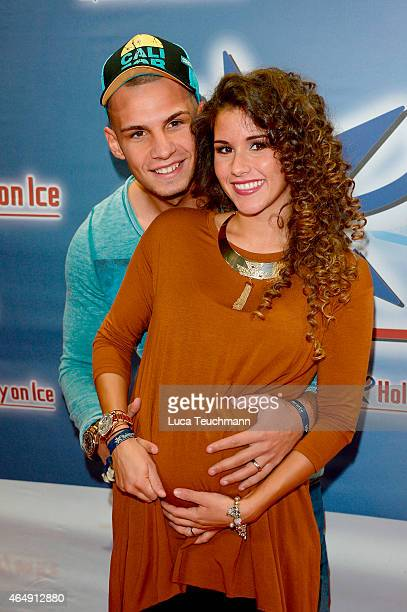 Sarah Lombardi and Pietro Lombardi attends Holiday on Ice Platinum Show Premiere at Tempodrom on March 1 2015 in Berlin Germany