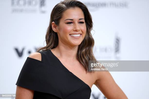 Sarah Lombardi arrives for the Echo Award at Messe Berlin on April 12 2018 in Berlin Germany