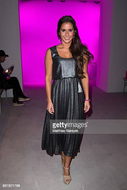 Sarah Lombardi attends the Riani show during the MercedesBenz Fashion Week Berlin A/W 2017 at Kaufhaus Jandorf on January 17 2017 in Berlin Germany