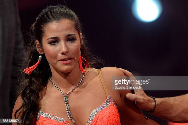Sarah Lombardi cries during the 10th show of the television competition 'Let's Dance' at Coloneum on May 20 2016 in Cologne Germany
