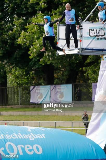 Sarah Lombardi during the Milka Charity Blobbing-Event at Hamburger Stadtpark on May 22, 2019 in Hamburg, Germany.