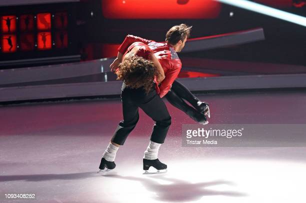 Sarah Lombardi Joti Polizoakis during the 'Dancing On Ice' Sat1 TV show on February 3 2019 in Cologne Germany