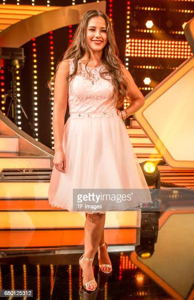 Sarah Lombardi looks on during the 7th show of the tenth season of the television competition 'Let's Dance' on May 5 2017 in Cologne Germany 'n