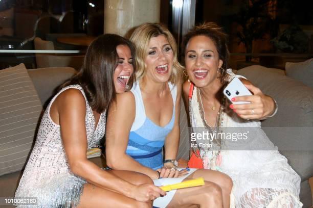 Sarah Lombardi Panagiota Petridou and Nina Moghaddam during the Remus Lifestyle Night on August 2 2018 in Palma de Mallorca Spain