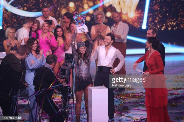 Sarah Lombardi wins the finals of the television show Dancing On Ice on February 10 2019 in Cologne Germany