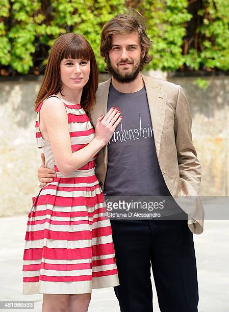 Sarah Maestri and Mattia Zaccaro Garau attend 'Il Pretore' Photocall at Apollo Spazio Cinema on April 2 2014 in Milan Italy