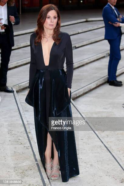 Sarah Maestri attends the red carpet of the movie Borat during the 15th Rome Film Festival on October 23 2020 in Rome Italy